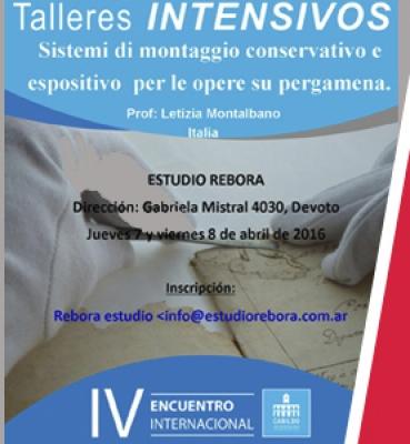"""""""Curso Intensivo de sistema de Montaje de Conservación Expositiva para Pergamino"""""""